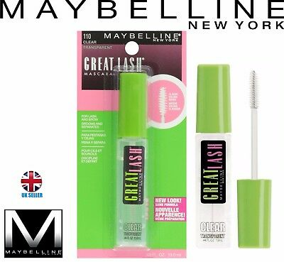 MAYBELLINE Great Lash Brow Mascara Gel 110 Clear Grooms & Separates Lashes NEW