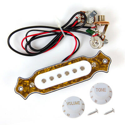 electric guitar prewired wiring harness pickup volume tone 3 wayset pre wired wiring harness soundhole pickups knob jacks for folk guitar parts