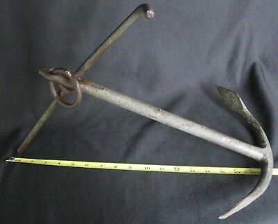 Antique Cast Iron Small Boat Anchor