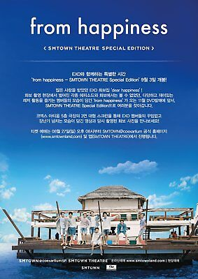 [Pre-Order] EXO From Happiness DVD 2 DISC SMTOWN Theatre Special Edition LTD