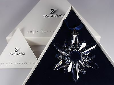Swarovski Christmas Ornament 1998 Mib #220073