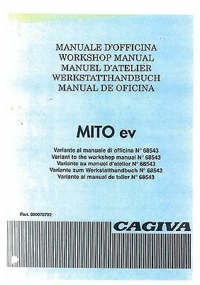 CAGIVA MITO ev WORKSHOP SERVICE MANUAL