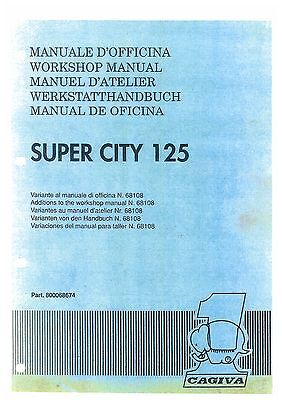 Cagiva Super City 125 Workshop Service Manual