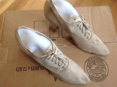 Vintage-Late 1910-20's. Heeled women's Athletic Shoes,US rubber, KEDS, antique