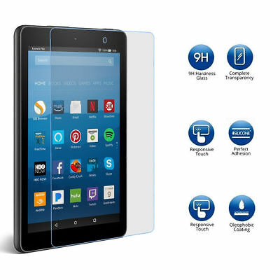 2017 Clear Tempered Glass Screen Protector For Amazon Fire HD 10 Tablet 10.1""