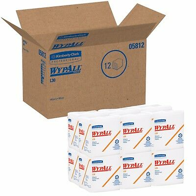 "New WypAll 05812 L30 Disposable Light Duty Task Wipe 12 X 12.5"" Cs1080 (12Pks)"