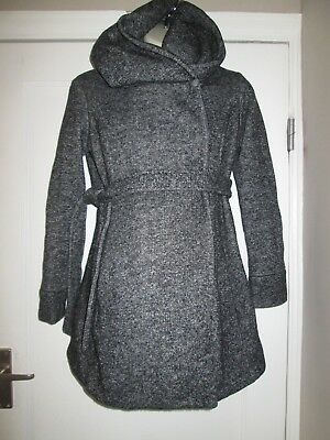 Lovely Grey Size 10 New Look Maternity Coat See Pics!!