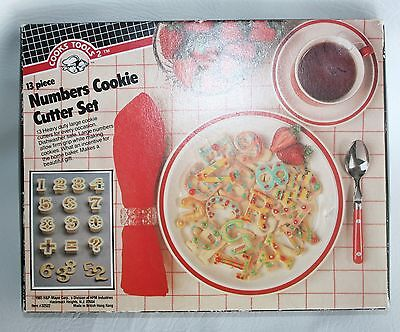 VTG Cooks Tools 13 Piece Numbers Cookie Cutter Set Play Doh Homeschool
