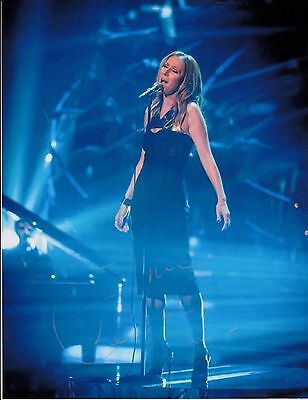 Celine Dion Dion Hand Signed Autograph Photo In Concert With Coa