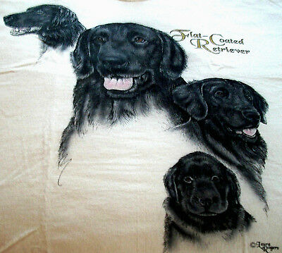 "Flat-Coated Retriever T-shirt  "" White "" 3XL ( 54 ~ 56 )"