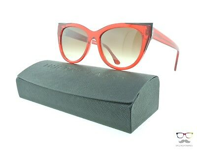 Thierry Lasry Sunglasses Epiphany 462 Red & Black / Gradient Brown Lenses