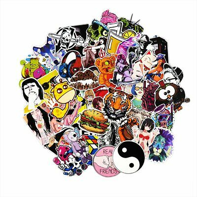 50/100pcs Cartoon Graffiti Stickers Skateboard Laptop Car Luggage Wall Art Decal