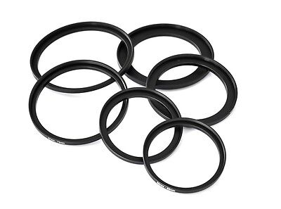 Filter Step-up rings set 49-52-55-58-62-67-72-77-82mm 8pcs 49mm-82mm as hood