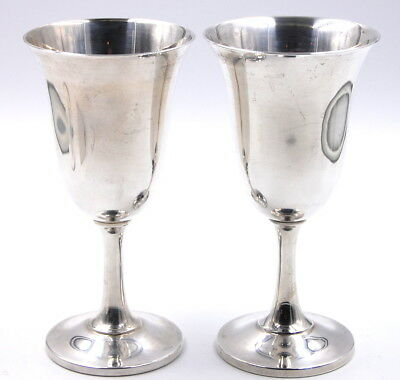 Lot 4 Of 2 Wallace Sterling Silver Goblet Cups 14 No Reserve