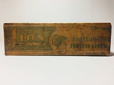 Lion Pasteurized Process Cheese Box Crate Vintage