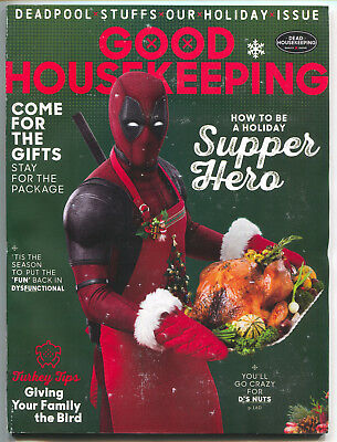 Good Housekeeping December 2017 Deadpool Movie Christmas Thanksgiving Variant