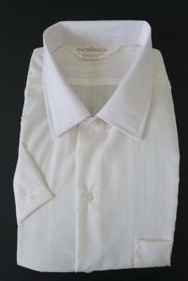 Vintage Excellence Polyester Cotton SS Mens Shirt - Size L (105cm)