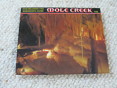 Vintage Nu-color-Vue Views Foldout Colour View Folder - Mole Creek cave Tasmania