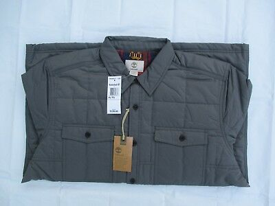 NWT Timberland New $128.00 Men Mill Brook Quilted Overshirt Jacket Size XL, XXL