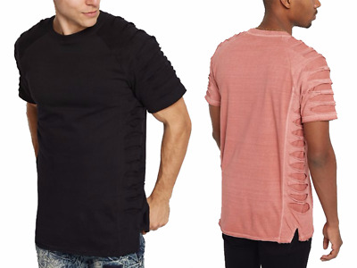 NWT MEN Hipster Hip Hop  Ripped & Repaired Short Sleeve T-Shirts By Rebel Minds