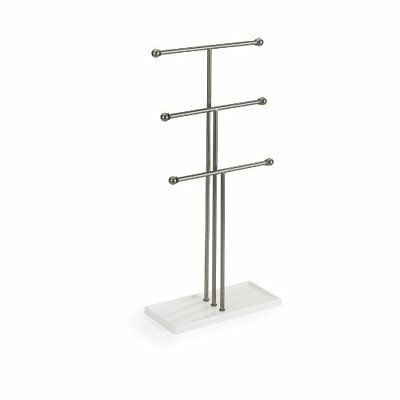 2 Tier T-bar Tall Jewelry Stand Necklace Bracelet Tree Display Holder Gift BR2