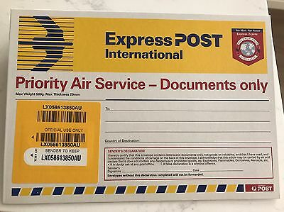 express post envelope International documents onlyX2