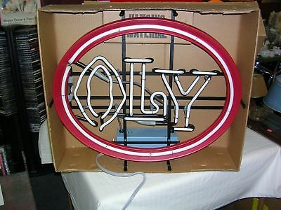 Vintage New Old Stock Oly / Olympia Beer Neon Lighted Sign - Brand New In Box !
