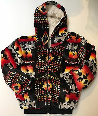 Native america super sofe kids jacket with warm plush