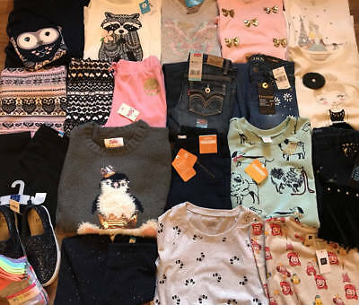 NWT Girls Size 7 7/8 Name Brand Winter Clothing Lot! Tops Sweaters Jeans Outfits