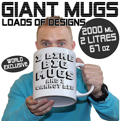 Giant 2 Litre Funny Mugs  Large Selection 2000ml Mug Perfect xmas Christmas Gift