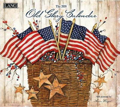 2018 Lang Calendar OLD GLORY New Wall Calender Fits Wall Frame FREEPOST Colle...