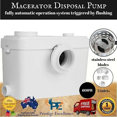 Auto Macerator Sewerage Pump Disposal Unit Toilet Laundry Waste Water Marine New