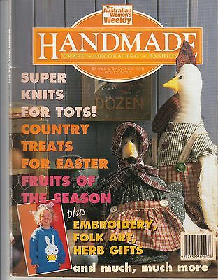 Handmade Craft Magazine 1996 Vol12 No 2 Knits For Tots Easter Treats  Herb Gifts