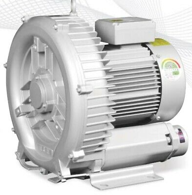 Regenerative Blower HRB-300 3-Phase 1.75KW, 2.3HP Ring Blower Vacuum & Pressure