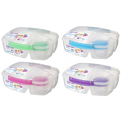 Sistema Triple Split Lunch Box 20920 Frühstücksbox Snackbox Brotbox Brotdose