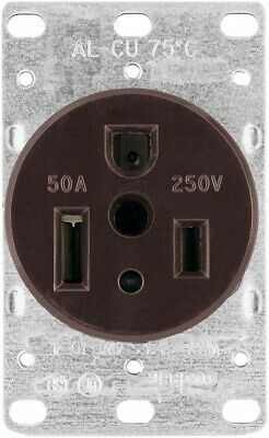 50a 3wire Flush Gnd Receptacle, PartNo 1254-BOX, by Cooper Wiring Devices Inc, S
