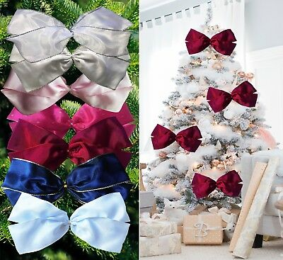 large 19cm luxury Christmas Tree Bows,bow Decoration,Gift,Ornament,Merry XMAS!