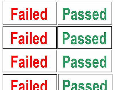 Pass or Fail Quality Control, PAT Testing Passed Stickers Electrical Labels,