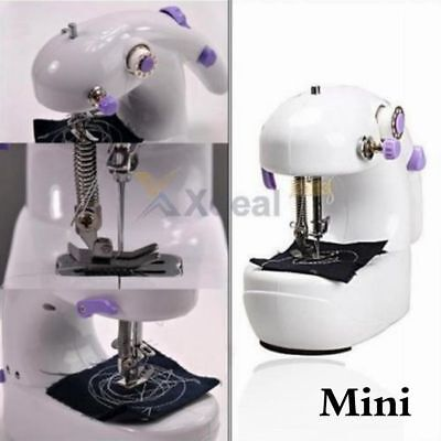 1x Portable Mini Handheld Electric Sewing Machine Desktop Home Household Sewing