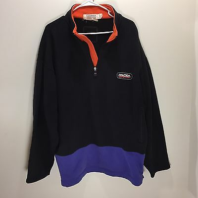 Vtg 90s Nautica Competition Color Block Half Zip Pullover Mens Lill Yachty XXL