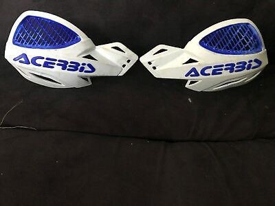 White Motocross Acerbis Enduro Quad Motorcycle Hand  Guards Universal