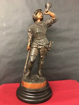 Antique Large Spelter Statue/ Figure 'Viking Invasion of England'