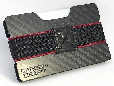 Carbon Fibre Money Clip & Credit Card Holder Wallet Slim Small Compact Also RFID