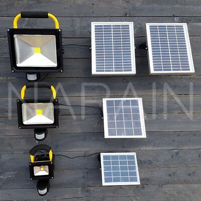 Solar Floodlight LED Flood Light PIR Sensor 10/20/30W Security Outdoor Work