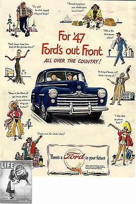 For '47 Ford's out Front * All over the Country * US-ADVERTISING 1947