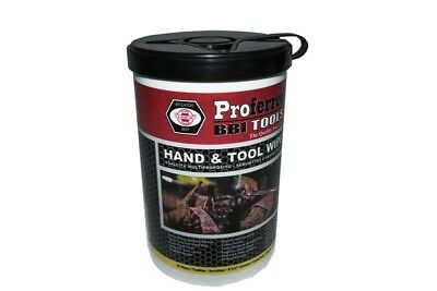 "Proferred Bbi Tools T99001 Hand  Tool Wipes 82 Wipes 9"" X 12"" Canister"