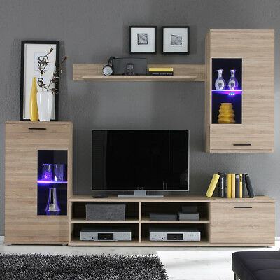 wohnwand ikea tunhem 2 vitrinen fernsehschrank und freistehendes regal eur 1 00 picclick de. Black Bedroom Furniture Sets. Home Design Ideas