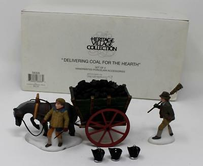 Dept 56 Dickens Village Delivering Coal For The Hearth #58326