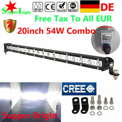 20INCH 54W CREE Led Light Bar Flood Spot Work Driving Offroad 4WD Truck SUV 126