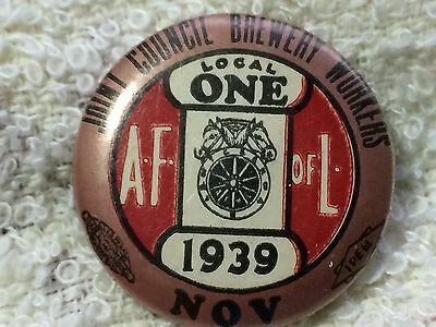 """1939"""" Joint Council Brewery Workers"""" A.f. Of L Union Local One"""